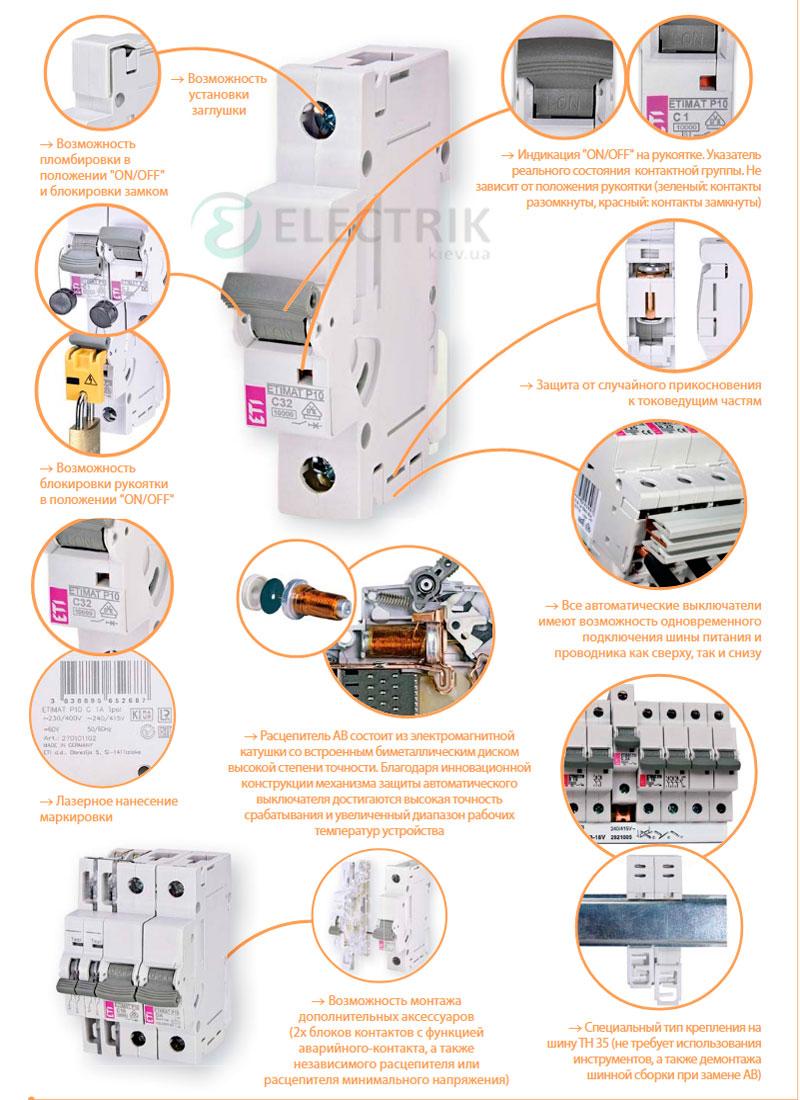 Автоматический-выключатель-ETIMAT-10-особенности конструкции