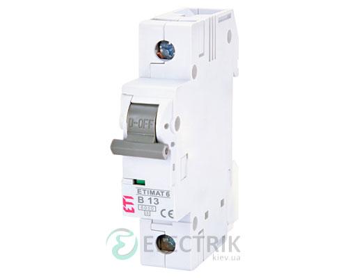 Автоматический-выключатель-ETIMAT-6-(6кА)-1P-13-А-хар-ка-B,-ETI-(Словения) 2111515