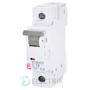 Автоматический-выключатель-ETIMAT-6-(6кА)-1P-16-А-хар-ка-C,-ETI-(Словения) 2141516