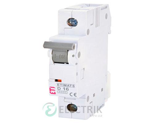 Автоматический-выключатель-ETIMAT-6-(6кА)-1P-16-А-хар-ка-D,-ETI-(Словения) 2161516