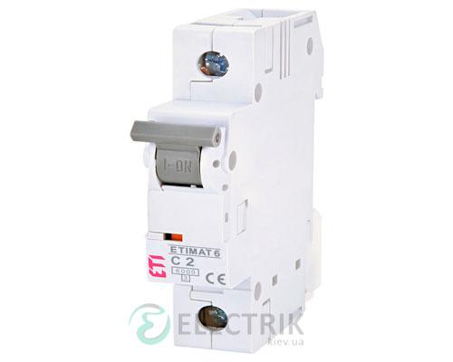 Автоматический-выключатель-ETIMAT-6-(6кА)-1P-2-А-хар-ка-C,-ETI-(Словения) 2141508