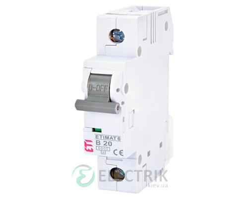Автоматический-выключатель-ETIMAT-6-(6кА)-1P-20-А-хар-ка-B,-ETI-(Словения) 2111517