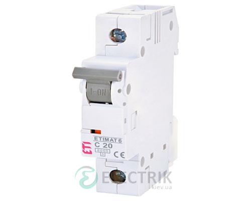 Автоматический-выключатель-ETIMAT-6-(6кА)-1P-20-А-хар-ка-C,-ETI-(Словения) 2141517