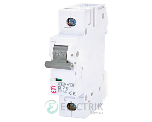 Автоматический-выключатель-ETIMAT-6-(6кА)-1P-20-А-хар-ка-D,-ETI-(Словения) 2161517