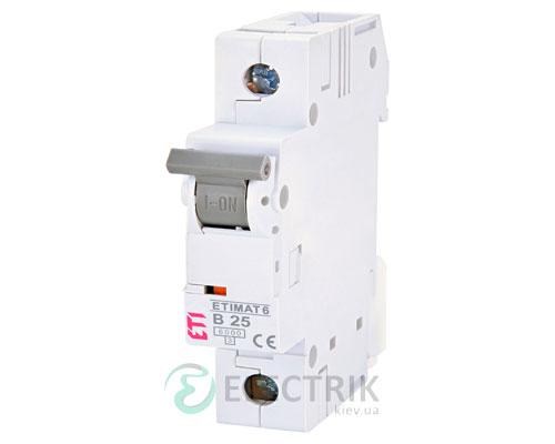 Автоматический-выключатель-ETIMAT-6-(6кА)-1P-25-А-хар-ка-B,-ETI-(Словения) 2111518