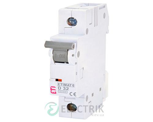 Автоматический-выключатель-ETIMAT-6-(6кА)-1P-32-А-хар-ка-D,-ETI-(Словения) 2161519