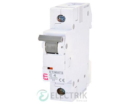 Автоматический-выключатель-ETIMAT-6-(6кА)-1P-4-А-хар-ка-C,-ETI-(Словения) 2141510
