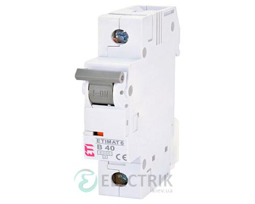 Автоматический-выключатель-ETIMAT-6-(6кА)-1P-40-А-хар-ка-B,-ETI-(Словения) 2111520