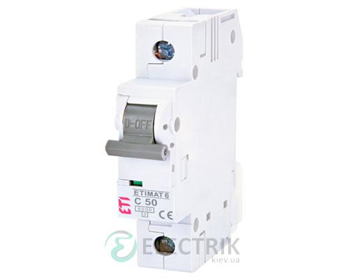 Автоматический-выключатель-ETIMAT-6-(6кА)-1P-50-А-хар-ка-C,-ETI-(Словения) 2141521