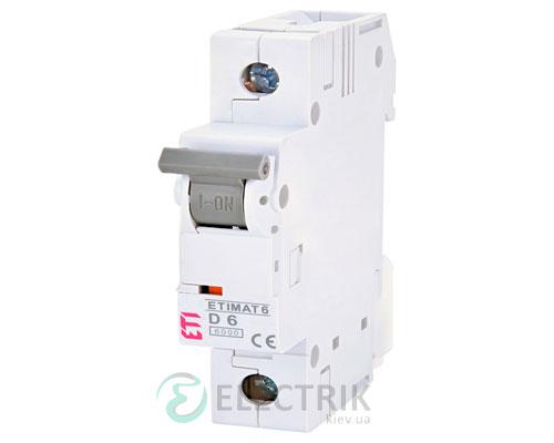 Автоматический-выключатель-ETIMAT-6-(6кА)-1P-6-А-хар-ка-D,-ETI-(Словения) 2161512