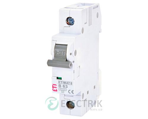 Автоматический-выключатель-ETIMAT-6-(6кА)-1P-63-А-хар-ка-B,-ETI-(Словения) 2111522