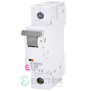 Автоматический-выключатель-ETIMAT-6-(6кА)-1P-63-А-хар-ка-C,-ETI-(Словения) 2141522