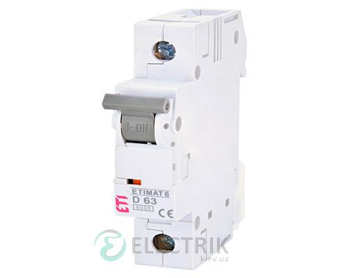 Автоматический-выключатель-ETIMAT-6-(6кА)-1P-63-А-хар-ка-D,-ETI-(Словения) 2161522