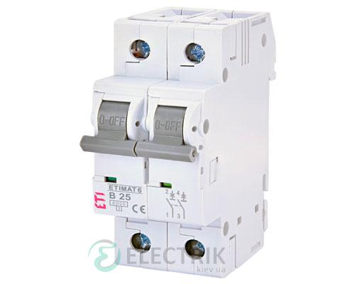 Автоматический-выключатель-ETIMAT-6-(6кА)-2P-25-А-хар-ка-B,-ETI-(Словения) 2113518