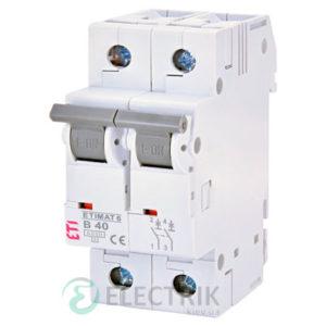 Автоматический-выключатель-ETIMAT-6-(6кА)-2P-40-А-хар-ка-B,-ETI-(Словения) 2113520