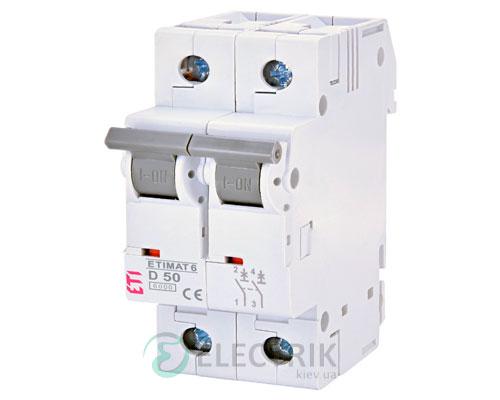Автоматический-выключатель-ETIMAT-6-(6кА)-2P-50-А-хар-ка-D,-ETI-(Словения) 2163521