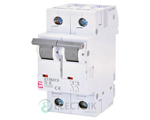 Автоматический-выключатель-ETIMAT-6-(6кА)-2P-6-А-хар-ка-D,-ETI-(Словения) 2163512