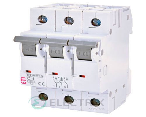 Автоматический-выключатель-ETIMAT-6-(6кА)-3P-1-А-хар-ка-C,-ETI-(Словения) 2145504