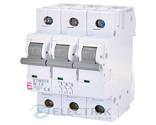 Автоматический-выключатель-ETIMAT-6-(6кА)-3P-13-А-хар-ка-B,-ETI-(Словения) 2115515