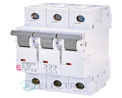 Автоматический-выключатель-ETIMAT-6-(6кА)-3P-13-А-хар-ка-C,-ETI-(Словения) 2145515