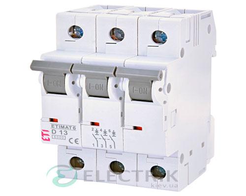Автоматический-выключатель-ETIMAT-6-(6кА)-3P-13-А-хар-ка-D,-ETI-(Словения) 2164515
