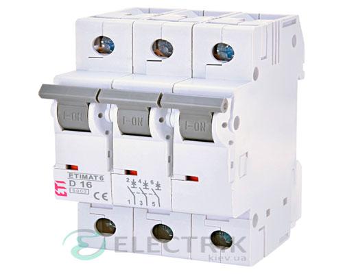 Автоматический-выключатель-ETIMAT-6-(6кА)-3P-16-А-хар-ка-D,-ETI-(Словения) 2164516