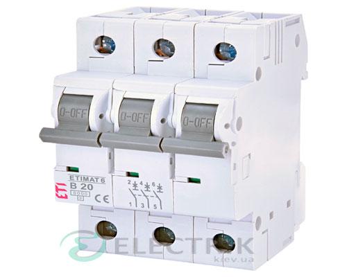 Автоматический-выключатель-ETIMAT-6-(6кА)-3P-20-А-хар-ка-B,-ETI-(Словения) 2115517