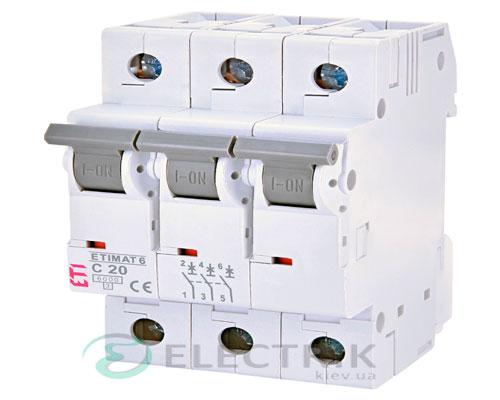 Автоматический-выключатель-ETIMAT-6-(6кА)-3P-20-А-хар-ка-C,-ETI-(Словения) 2145517