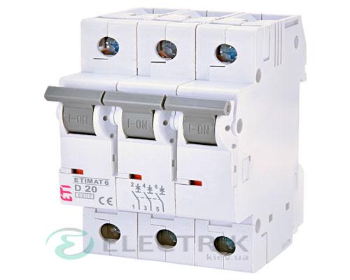 Автоматический-выключатель-ETIMAT-6-(6кА)-3P-20-А-хар-ка-D,-ETI-(Словения) 2164517