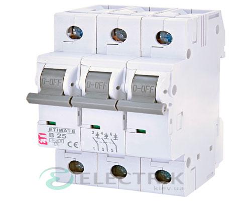 Автоматический-выключатель-ETIMAT-6-(6кА)-3P-25-А-хар-ка-B,-ETI-(Словения) 2115518