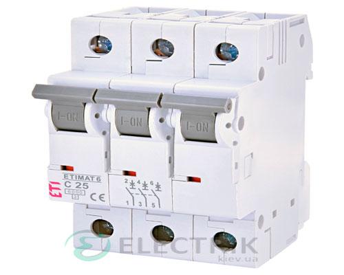 Автоматический-выключатель-ETIMAT-6-(6кА)-3P-25-А-хар-ка-C,-ETI-(Словения) 2145518