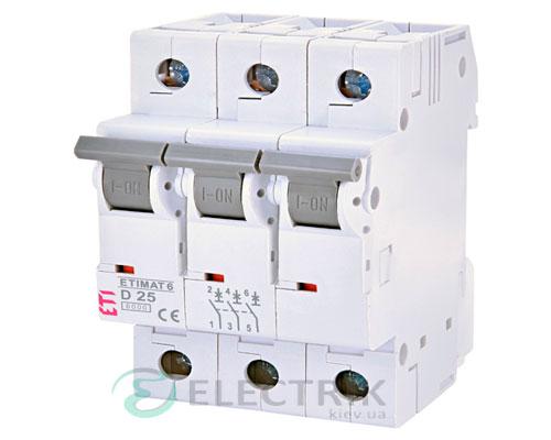Автоматический-выключатель-ETIMAT-6-(6кА)-3P-25-А-хар-ка-D,-ETI-(Словения) 2164518