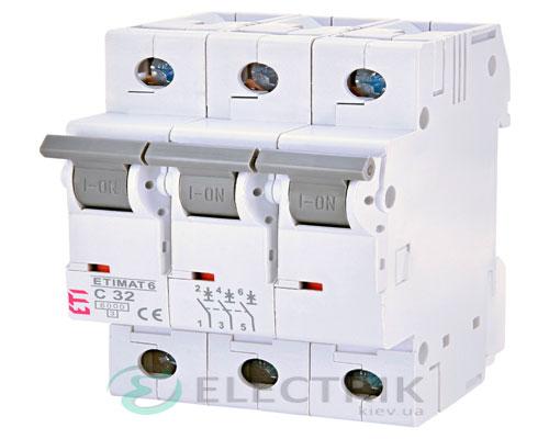 Автоматический-выключатель-ETIMAT-6-(6кА)-3P-32-А-хар-ка-C,-ETI-(Словения) 2145519