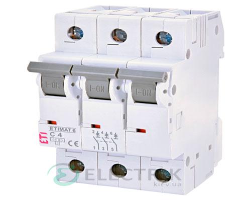 Автоматический-выключатель-ETIMAT-6-(6кА)-3P-4-А-хар-ка-C,-ETI-(Словения) 2145510