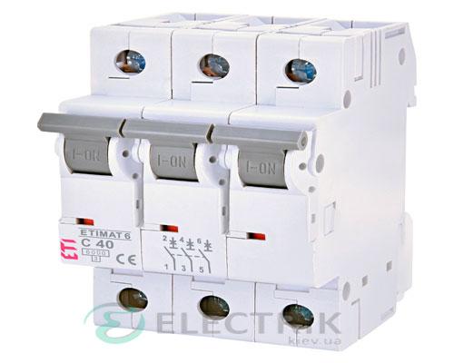 Автоматический-выключатель-ETIMAT-6-(6кА)-3P-40-А-хар-ка-C,-ETI-(Словения) 2145520