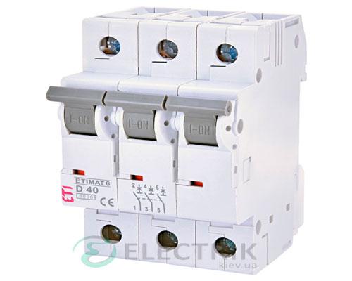 Автоматический-выключатель-ETIMAT-6-(6кА)-3P-40-А-хар-ка-D,-ETI-(Словения) 2164520