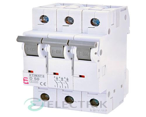 Автоматический-выключатель-ETIMAT-6-(6кА)-3P-50-А-хар-ка-D,-ETI-(Словения) 2164521