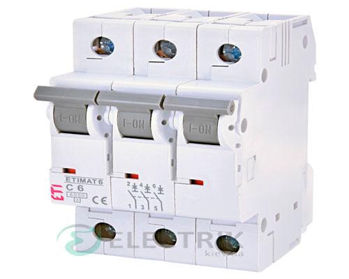 Автоматический-выключатель-ETIMAT-6-(6кА)-3P-6-А-хар-ка-C,-ETI-(Словения) 2145512
