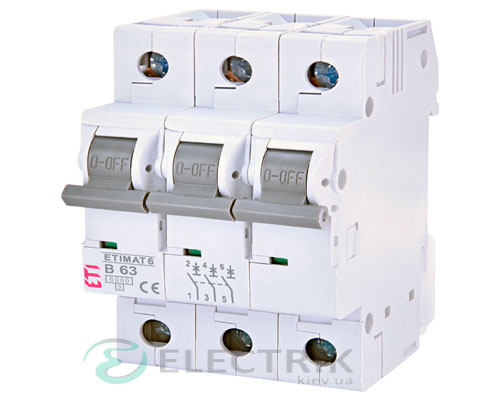 Автоматический-выключатель-ETIMAT-6-(6кА)-3P-63-А-хар-ка-B,-ETI-(Словения) 2115522