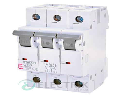 Автоматический-выключатель-ETIMAT-6-(6кА)-3P-63-А-хар-ка-C,-ETI-(Словения) 2145522