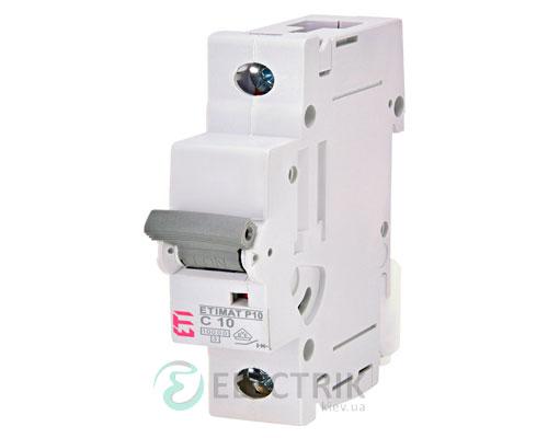 Автоматический-выключатель-ETIMAT-P10-(10кА)-1P-10-А-хар-ка-C,-ETI-(Словения) 271001100
