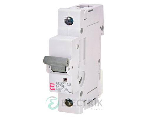 Автоматический-выключатель-ETIMAT-P10-(10кА)-1P-16-А-хар-ка-C,-ETI-(Словения) 271601108