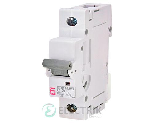 Автоматический-выключатель-ETIMAT-P10-(10кА)-1P-20-А-хар-ка-C,-ETI-(Словения) 272001101