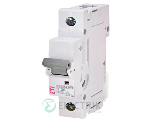 Автоматический-выключатель-ETIMAT-P10-(10кА)-1P-20-А-хар-ка-D,-ETI-(Словения) 272002102