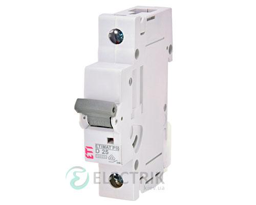 Автоматический-выключатель-ETIMAT-P10-(10кА)-1P-25-А-хар-ка-D,-ETI-(Словения) 272502107