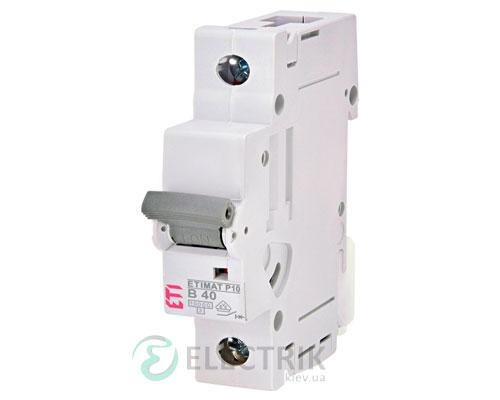 Автоматический-выключатель-ETIMAT-P10-(10кА)-1P-40-А-хар-ка-B,-ETI-(Словения) 274000102