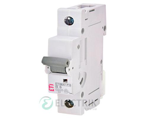 Автоматический-выключатель-ETIMAT-P10-(10кА)-1P-6-А-хар-ка-B,-ETI-(Словения) 270600106