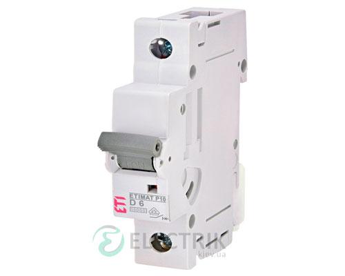Автоматический-выключатель-ETIMAT-P10-(10кА)-1P-6-А-хар-ка-D,-ETI-(Словения) 270602108