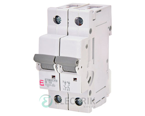Автоматический-выключатель-ETIMAT-P10-(10кА)-2P-10-А-хар-ка-B,-ETI-(Словения) 271020103