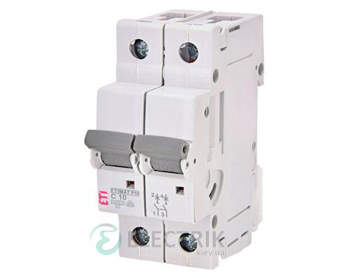 Автоматический-выключатель-ETIMAT-P10-(10кА)-2P-10-А-хар-ка-C,-ETI-(Словения) 271021104